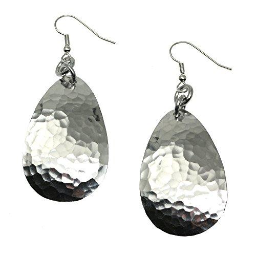 large-hammered-aluminum-silver-tone-tear-drop-earrings-by-john-s-brana-handmade-jewelry-hypoallergen
