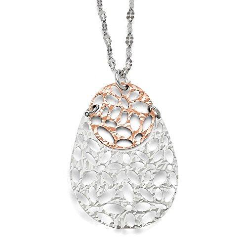 Sterling Silver 14k Rose Gold-
