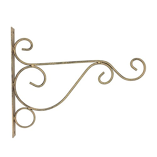 millet16zjh Metal Wall Hanging Bracket Plant Hanger Hook Home Garden Decor Bronze S from millet16zjh