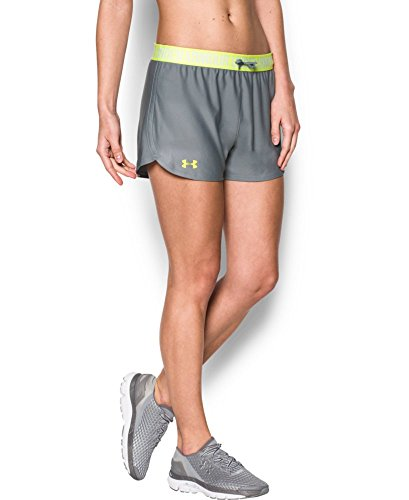 Under Armour Women's Play Up Shorts, Steel/X-Ray, Small