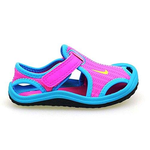 296b01086f50 Pies de Gato para Piscina niña Nike Sunray 612 Rosa-Azul  Amazon.es   Zapatos y complementos