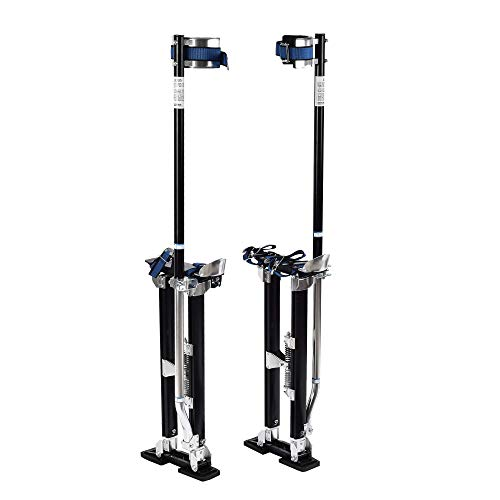 SUNCOO Drywall Stilts 24-40'' Heavy Duty Adjustable Height Aluminum Tool Stilt for Painting Painter Taping Black ()
