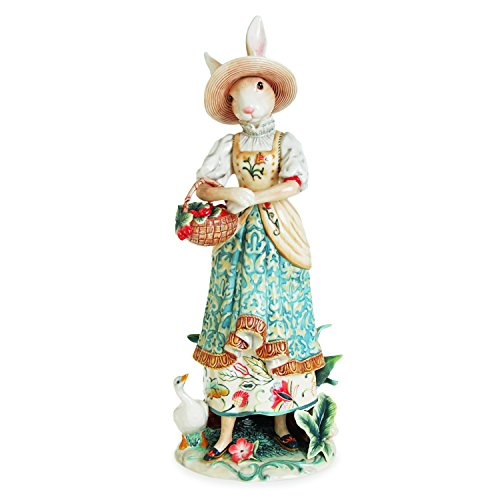 Fitz and Floyd 63-561 Parker Woven Pattern Female Rabbit Figurine