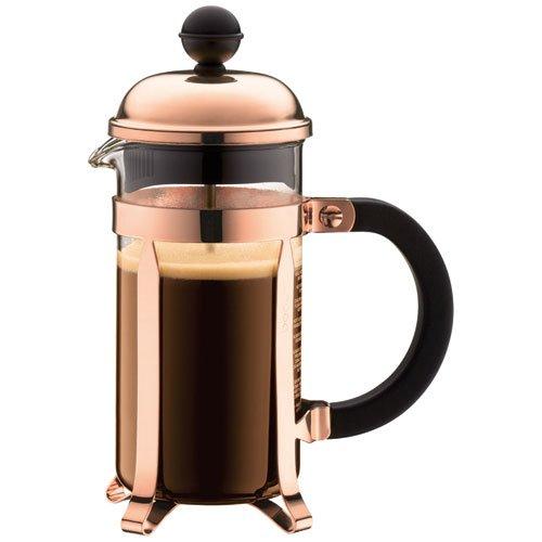 Bodum Chambord Coffee Maker, Copper - 3 Cup - 0.35 L, 12 Oz