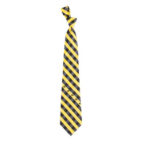 Iowa Hawkeyes NCAA Check Poly Necktie