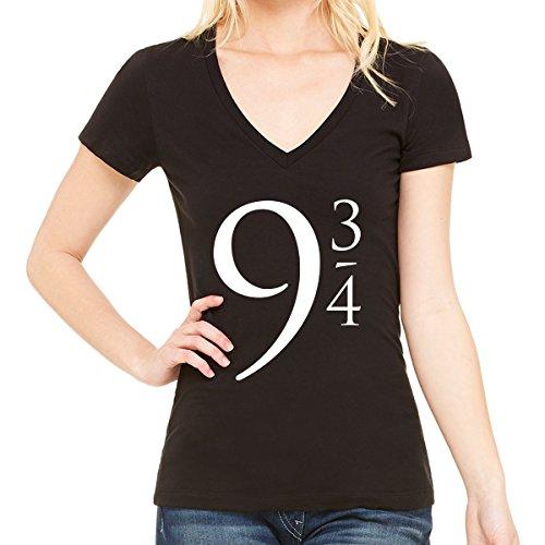 Harry Potter Platform 9 3/4 V Neck T-Shirt