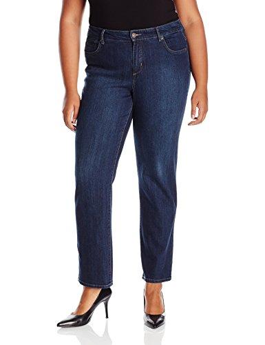 Bandolino Women's Plus Size Mandie 5 Pocket Perfect Fit Jean-Average Length, Greenwich, 22W