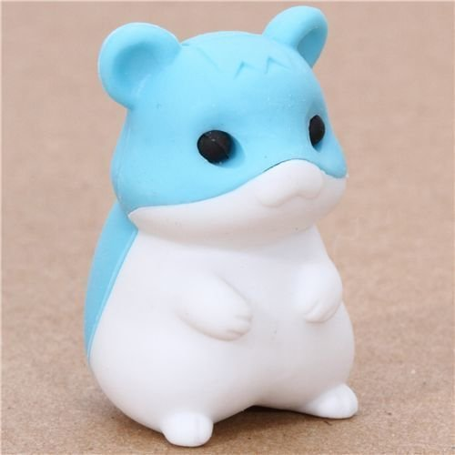 cute blue hamster eraser from Japan by Iwako by Iwako by Iwako (Iwako Erasers For Kids Hamster)