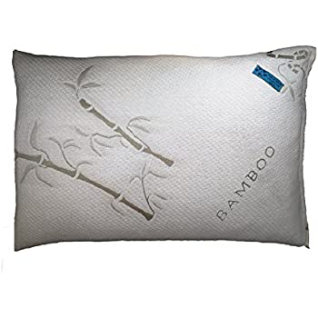 Five Diamond Collection Bamboo Covered Shredded Memory Foam Pillow,Hypoallergenic and Dust Mite Resistant,100% Washable, Made in USA, (Standard)