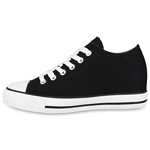 Sneakers Stiefelparadies Femme Basses Basses Sneakers Stiefelparadies Schwarz d5X7qXUpxw