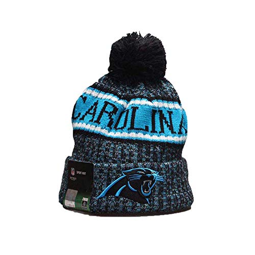 Gloral HIF Carolina Panthers Hat Beanie Skully Hat Football Toque Cap for Fans -