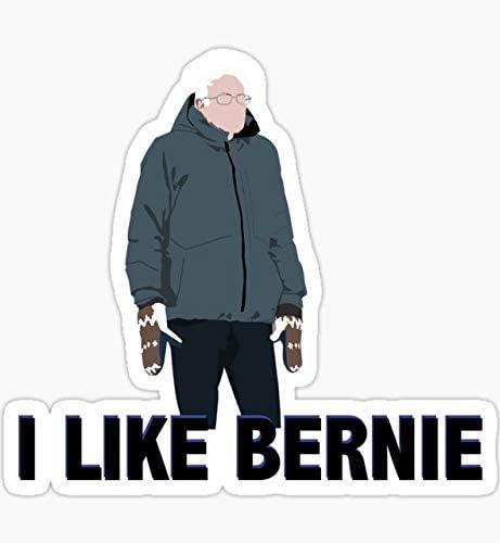 Bernie Sander mitten man Vinyl Sticker