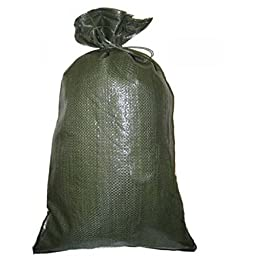 Green Sandbag Sandbags Will Hold 50 Pounds of Sand Polypropylene Olive Drab (15)