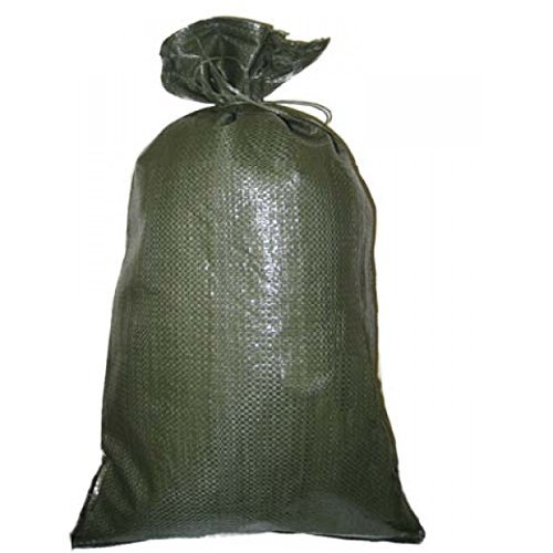 Green Sandbag Sandbags Will Hold 50 Pounds of Sand Polypropylene Olive Drab (25) by west pack