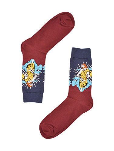 Real Designer Clothes (Real Sic Designer Casual Socks for Men - Off the Wall Series - Breathable and Lightwear (Jesus))