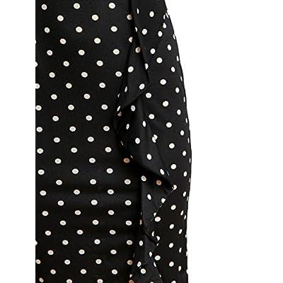 CISMARK Women's Vintage Short Sleeve Polka Dot Falbala Fold Slim Fit Pencil Dress at Women's Clothing store