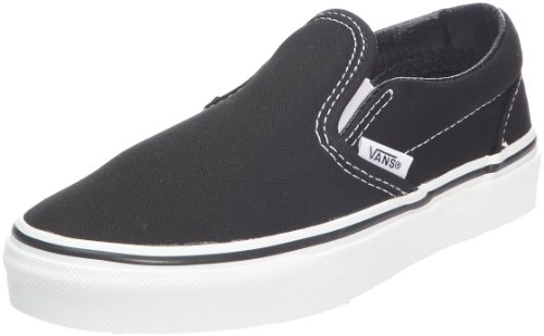 Vans Boys' Classic Slip-On Core (Little Big Kid), Black 11 -