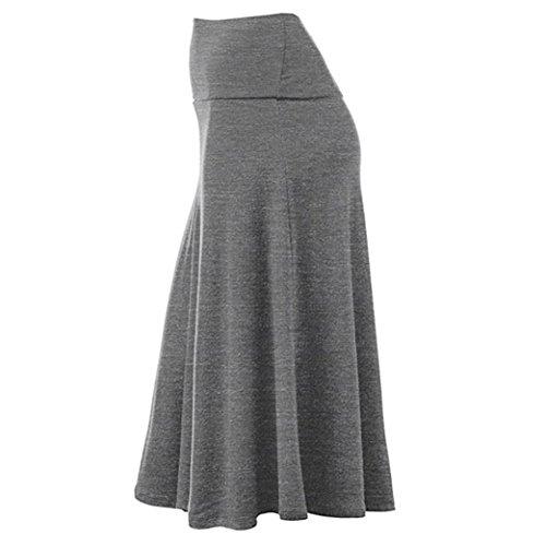 ❤ Falda Plisada Mujer, Falda Midi de Cintura Alta con Dobladillo sólido de Talla Grande y Uniforme Sexy Absolute: Amazon.es: Ropa y accesorios