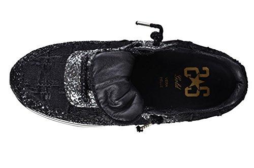 Nero Argento Scarpa di Tela 2Star Perline Donna Gold Scarpe 40 wg6H4T6