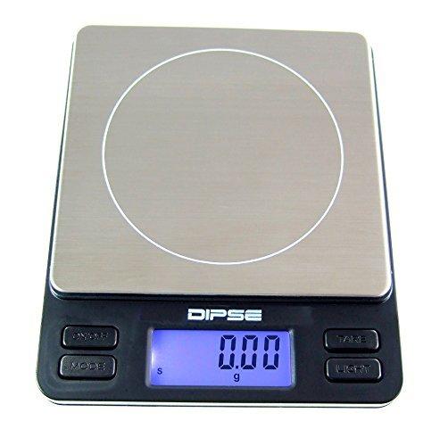 Dipse Digitale Laborwaage TP-500 x 0,01 - Feinwaage mit 0,01g genauer Auflösung Digitalwaage bis 500g / 0,5 kg