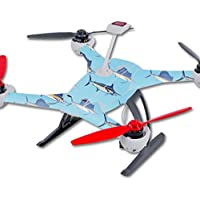 Skin For Blade 350 QX3 Drone – Billfish Stripes | MightySkins Protective, Durable, and Unique Vinyl Decal wrap cover | Easy To Apply, Remove, and Change Styles | Made in the USA