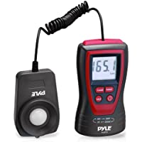Pyle PLMT15 Handheld Lux Light Meter Photometer with 2X Per Second Sampling, LCD Display and 200000 Lux Range