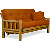Rustic Tahoe Log Full Size Wood Futon Frame - Heritage Finish