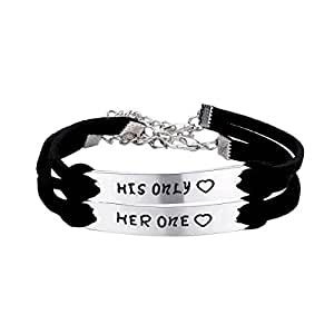 cj m her one his only couples bracelets. Black Bedroom Furniture Sets. Home Design Ideas