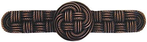 Notting Hill Decorative Hardware Classic Weave Pull, Antique Copper