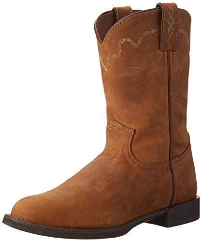 Justin Boots Men's Performance Ropers, Tan Apache, 9.5 D (Justin Mens Roper Boots)