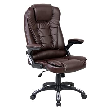 high back brown leather executive reclining office chair. rio brown luxury reclining executive high back office desk chair faux leather swivel high back brown leather executive reclining office chair i