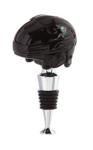 Team Sports America San Jose Sharks Logo Helmet Wine Bottle Stopper]()