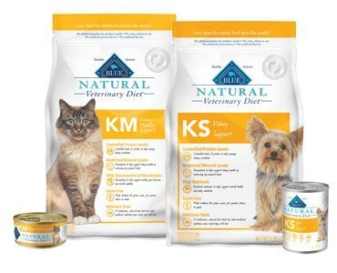 Blue Natural Veterinary Diet KM Kidney + Mobility Support Dry Cat Food 7lb