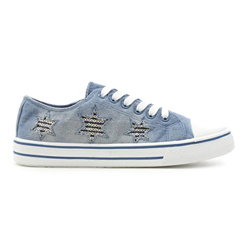 Lilley Denim Lavato Da Donna In Pizzo Blu