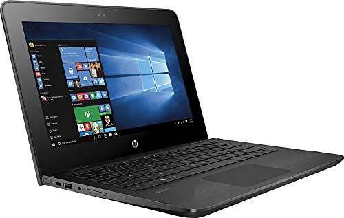 HP X360 11-AB011DX 11.6-Inch Touchscreen 2-in-1 Convertible Premium HD Laptop (Intel celeron N3060, 4GB RAM, 32GB eMMC, Windows 10 Home) Black by HP (Image #1)