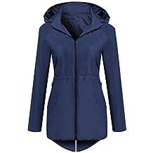 Meaneor Women's Hooded Lightweight Windproof Outdoor Active Jacket Coat With Pocket