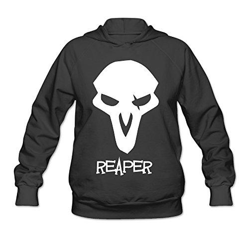 Overwatch Women's Reaper Hoodies Hoodie Size L Black