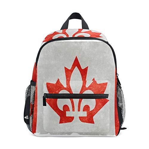 Jojogood Canada Fusion Flag Toddler Kids School Backpack Cute Durable Kindergarten Shoulder Bag
