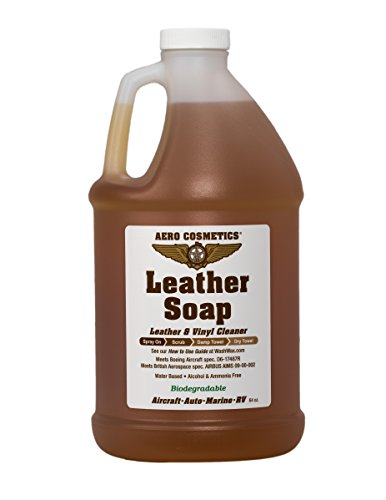 Leather Cleaner Leather Soap Aircraft Quality for Your Car RV and Furniture 64oz Better Than Automotive Products Meets Boeing Aircraft Specifications