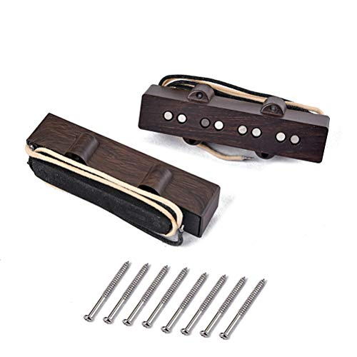 HEALLILY 4 String Guitar Pickup Set with Pickup Frame for Fender Telecaster Tele Electric Guitar Parts Replacement