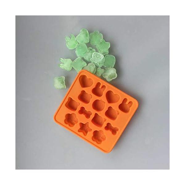Hosaire - Stampo in silicone per torte, biscotti, gelati, pasticceria, cioccolato, fondente, 3D, a forma di coniglio e… 2 spesavip