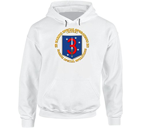 SMALL - Sof - Usmc 3rd Marine Special Operations Bn - Hoodie - White
