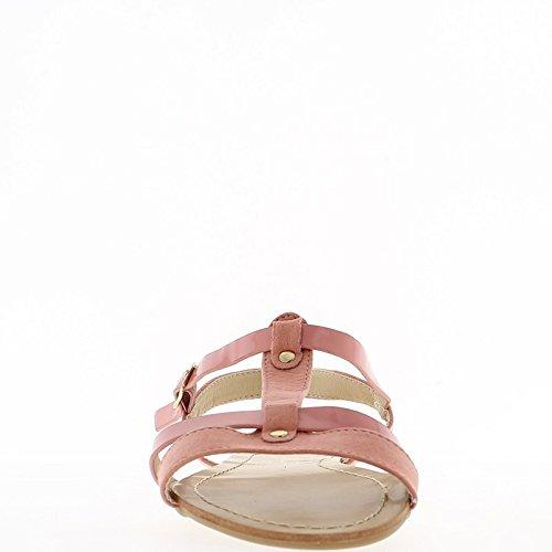 A piedi nudi di donna rosa a tacco 1,5 cm