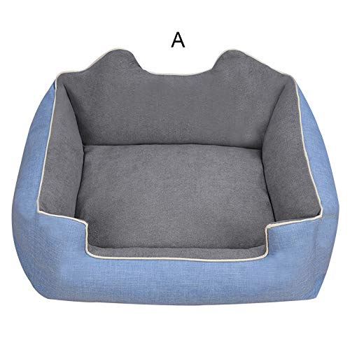A2 Small A2 Small Jypet Pet bed for dogs cats removable and washable Pet supplies Keep warm in winter Kennel Square with Plus velvet small medium,A2,S