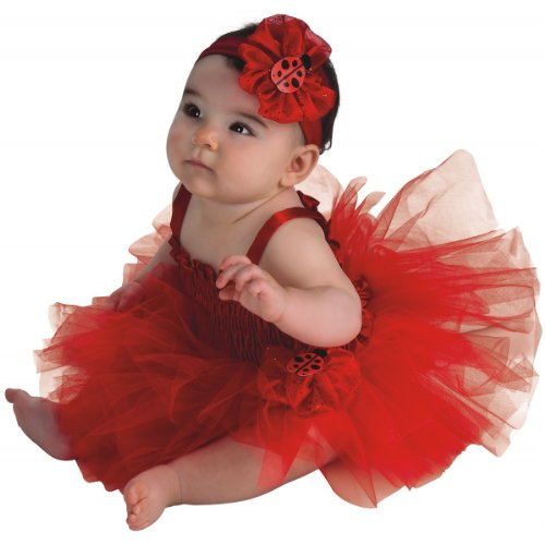 Rubie's Newborn Ladybug Tutu Dress, Red, 6-9 Months -