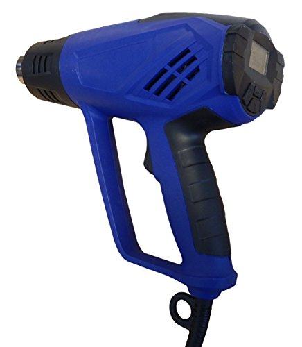 Adjustable Gun Heat (Simplistex - 1500 Watt DIGITAL Heat Gun - 4 Nozzles - 6 Fan Speeds - Adjustable temperature from 122°F to 932°F - 1 Year Warranty)