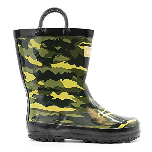 Mucky Wear Children's Rubber Rain Boot, Army Camo, 2Y US Big - Kids Boot Rubber Camo