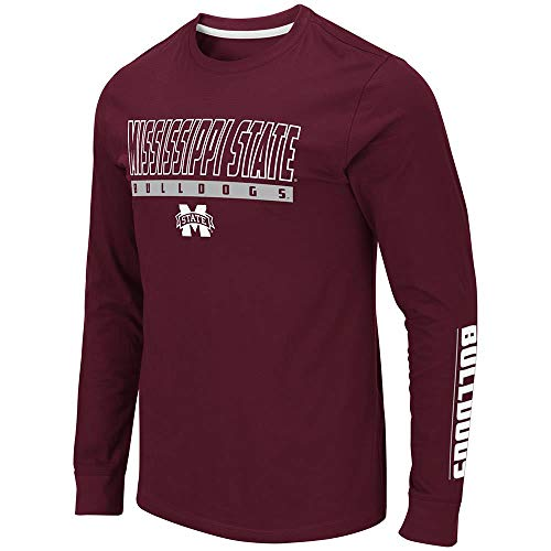 (Colosseum Mens Mississippi State Bulldogs Guam Long Sleeve Tee Shirt - L)