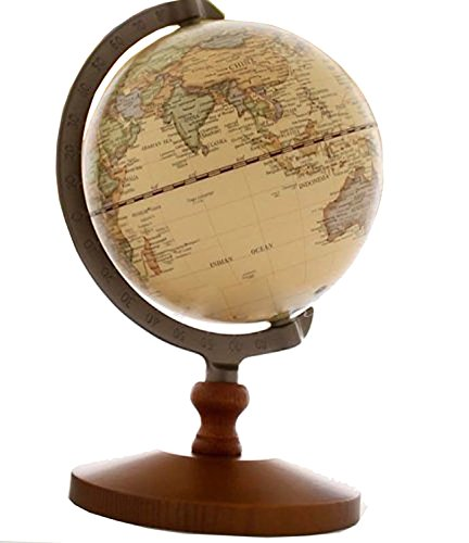 NuoYa001 Vintage Reference World Globe Home Work Decor Wedding Educational Gift 14cm by VStoy