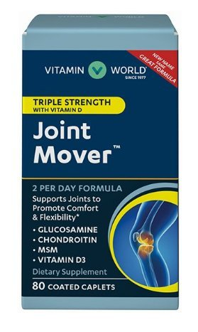 - Vitamin World Triple Strength Joint Mover with Vitamin D 80 Coated caplets